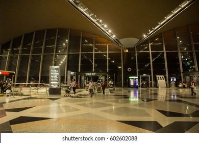 KUALA LUMPUR, MALAYSIA - 1ST MARCH 2017. Interior of Kuala Lumpur international airport.