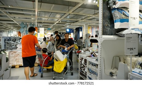 Kuala Lumpur, Malaysia – 20 DECEMBER 2017: People are busy shopping at IKEA. A store with a wide range of products in The Curve, Damansara, Kuala Lumpur.