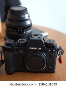Kuala Lumpur, Malaysia 20 Spetember 2018 : Fujifilm X-T3 is a DSLR type mirrorless camera with weather resistant capability and entering the market in September 2018 as a successor to X-T2.