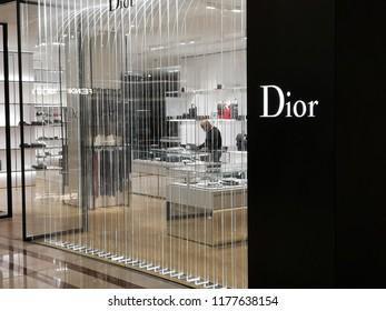 Kuala Lumpur, Malaysia 22 July 2018 : Dior Store at Suria KLCC Petronas Twin Towers . An International popular Fashion and Fragrance store in Malaysia.