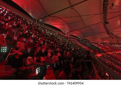 KUALA LUMPUR, MALAYSIA 23 SEPTEMBER 2017: Colorful event losing ceremony at the 9th ASEAN Para, at National Stadium, Bukit Jalil, Kuala Lumpur.