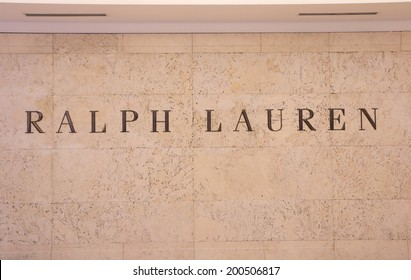 KUALA LUMPUR MALAYSIA - 25 May, 2014:Ralph Lauren Logo. Ralph Lauren corporation is a global multi-billion-dollar enterprise opened in New York in 1967.