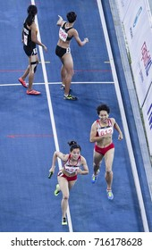 KUALA LUMPUR, MALAYSIA 26 AUGUST 2017: Athletes in action 4x400meter Women Final at the 29th SEA Games at the National Stadium in Bukit Jalil, Kuala Lumpur.