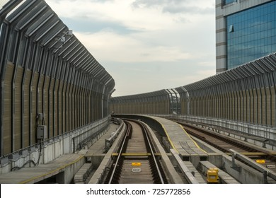 KUALA LUMPUR, MALAYSIA - 26 SEPTEMBER, 2017 : MRT railway. The Mass Rapid Transit (MRT) is new public transport in Klang Valley with launch of the first line from Sungai Buloh to Kajang (SBK).
