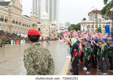 KUALA LUMPUR, MALAYSIA - 26th August 2017: Merdeka Day celebration is a colorful event and is held in commemoration of Malaysia's Independence Day at Dataran Merdeka every year.