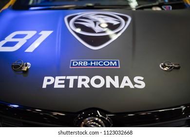 KUALA LUMPUR, MALAYSIA - 27 April 2018. New R3 up close at Honda booth autoshow.