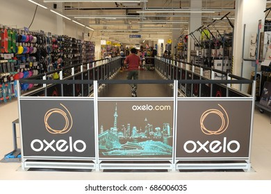 Kuala Lumpur, Malaysia - 27 July 2018 : Decathlon sporting goods store in Damansara. Decathlon is one of the world's largest sporting goods retailers.