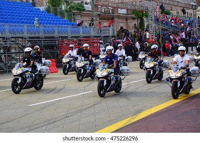 KUALA LUMPUR, MALAYSIA - 27th AUGUST 2016 ; Merdeka Day celebration is held in commemoration of Malaysia's Independence Day, during rehearsal at Dataran Merdeka Kuala Lumpur, Malaysia.
