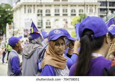 KUALA LUMPUR, MALAYSIA - 27th AUGUST 2017; Rehearsal for Malaysia's Independence Day at Dataran Merdeka; one of the most colorful events celebrated annually.