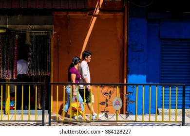 Kuala Lumpur, Malaysia - 28 February 2016 : People on the street of Lebuh Pudu near Pasar Seni. Kuala Lumpur is the capital and most populous city in Malaysia.