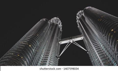 Kuala Lumpur, Malaysia, 28th, September, 2012. The Petronas Towers, also known as the Petronas Twin Towers. The buildings are a landmark of Kuala Lumpur, along with nearby Kuala Lumpur Tower.