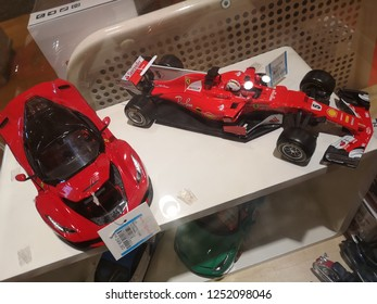 Kuala Lumpur, Malaysia - 29 November 2018 : Upclose a boy toys display for sell in the supermarket.