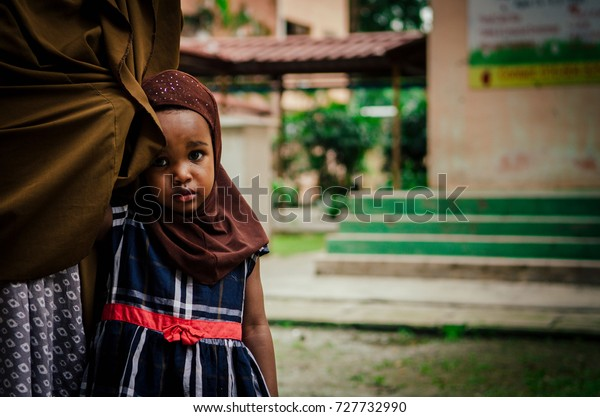 Kuala Lumpur, Malaysia - 29th September 2017 : Somalia refugee children that reside and enlarged as Malaysia