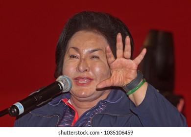 KUALA LUMPUR MALAYSIA -3 FEBRUARY 2018:  First Lady Of Malaysia Datin Paduka Seri Rosmah Mansor giving his speech at Kuala Lumpur.