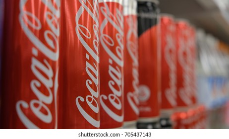 Kuala Lumpur, Malaysia; 30/08/2017; Coca Cola is a carbonated soft drink available almost in all the stores around the world.