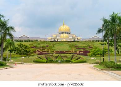 KUALA LUMPUR, MALAYSIA - 31 OCT 2014: National Palace (Istana Negara) in Kuala Lumpur Malasia