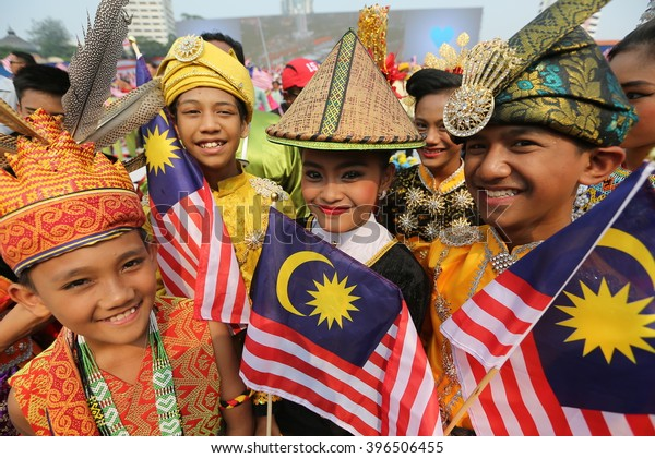 Kuala Lumpur, Malaysia -31 ST August 2015 ; Youth celebrated during 58th Malaysia Independence Day Parade On August 31,2015 in Kuala Lumpur,Malaysia