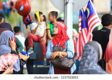KUALA LUMPUR, MALAYSIA - 31st AUGUST; Merdeka Day celebration is held in commemoration of Malaysia's Independence Day at Dataran Merdeka; one of the most colorful events celebrated annually.