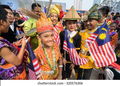 KUALA LUMPUR, MALAYSIA - 31ST AUGUST 2015; Youth celebrated during 58th Malaysian Independence Day Parade on August 31, 2015 in Kuala Lumpur, Malaysia.