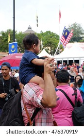 KUALA LUMPUR, MALAYSIA - 31ST AUGUST 2016; Malaysian people celebrating Merdeka Day which is held at Dataran Merdeka and this event celebrated annually.