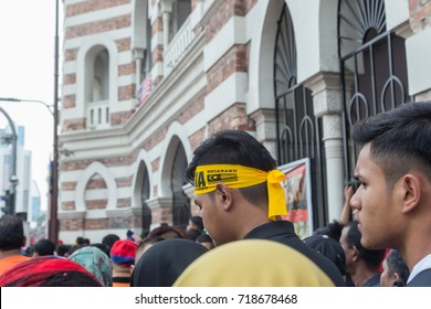 Kuala Lumpur, Malaysia - 31st August 2017. The crowds during Malaysia National Day Parade in Dataran Merdeka.