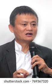 KUALA LUMPUR, MALAYSIA - 5 NOVEMBER 2017: Alibaba Group founder Jack Ma has praised Malaysia for being the first country to implement a digital free trade zone (DFTZ) at Sepang, Malaysia.