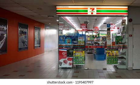 Kuala Lumpur, Malaysia - 5 October 2018 : A 7 Eleven, a chain convenience store at Nu Sental, Kuala Lumpur.
