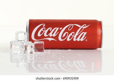 KUALA LUMPUR, MALAYSIA - 6 August 2017: Coca Cola drinks over white background. Coca Cola drinks are produced and manufactured by The Coca-Cola Company, an American multinational beverage corporation.