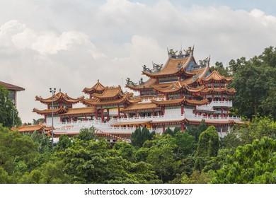 KUALA LUMPUR, MALAYSIA - 6TH APRIL 2017: The outside of the Thean Hou Temple in Kuala Lumpur.