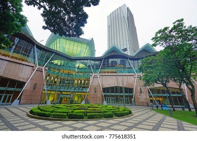 KUALA LUMPUR, MALAYSIA -8 DEC 2017- View of the Kuala Lumpur Convention Centre, a convention and exhibition centre part of the KLCC development at Jalan Pinang, Kuala Lumpur, Malaysia.