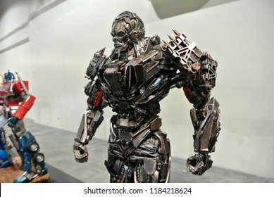 KUALA LUMPUR, MALAYSIA -APRIL 07, 2018: LOCKDOWN action figure of fictional character in the Transformers franchise. Antagonist character leader the Decepticons. Display for pubic by collector.