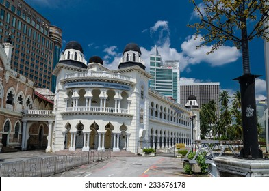 KUALA LUMPUR, MALAYSIA - April 15: Merdeka Square on April 15, 2013 in Kuala Lumpur, Malaysia. The main square of the city reminds the British colonization with its buildings.