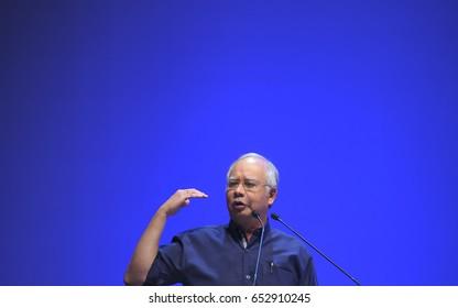 KUALA LUMPUR, MALAYSIA - APRIL 16, 2012 : Malaysia Prime Minister, Najib Razak.
