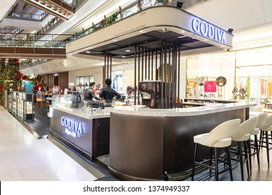 KUALA LUMPUR, MALAYSIA, April 18, 2019:  Godiva Chocolatier is a Belgian manufacturer of chocolates and related products. Godiva owns and operates more than 600 shops worldwide.