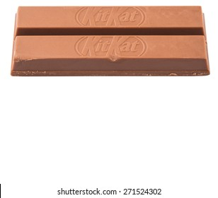 KUALA LUMPUR MALAYSIA, APRIL 21ST 2015. Kit Kat is a chocolate covered wafer bar created in 1911 by Rowntree's of York, England. Nestle which acquired Rowntree in 1988 now sells Kit Kat globally.