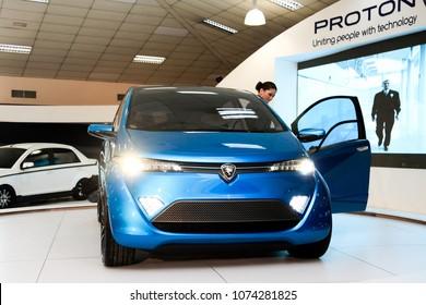 KUALA LUMPUR, MALAYSIA. APRIL 22nd 2018: Proton Emas, a concept car from Proton at Kuala Lumpur International Motor Show on December 10, 2010 in Kuala Lumpur Malaysia