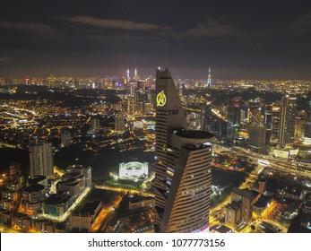 Kuala Lumpur Malaysia. April 25 2018. Telekom Tower tranform to Avenger's Stark. It is part of calloboration between Marvel Malaysia with TM