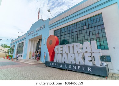 Kuala Lumpur, Malaysia - April 26, 2018: Local and tourist visiting Central Market, Kuala Lumpur. It is one of the most famous tourism destination in Kuala Lumpur, founded at 1888.