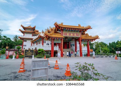 Kuala Lumpur, Malaysia - April 26, 2018: Local and tourist visiting Thean Hou Temple,  Kuala Lumpur. It is one of the most famous tourism destination in Kuala Lumpur.