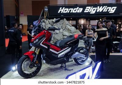 KUALA LUMPUR, MALAYSIA - APRIL 26, 2018 : Honda X-ADV 745cc Adventure Scooter / Crossover Adventure Bike.