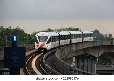 Kuala Lumpur, Malaysia - April 5, 2013: Rapid KL, operated by Rapid Rail, provides monorail service network for 56 kilometers long with 60 stations in Kuala Lumpur, Malaysia.