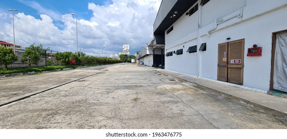 KUALA LUMPUR, MALAYSIA - APRIL  9, 2021 : Industrial factory building with outdoor view