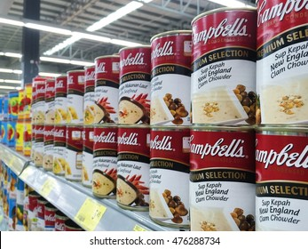 Kuala Lumpur, Malaysia - Aug 31, 2016 : Campbell's is an american producer of canned soups and related products, it was founded in 1869