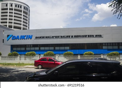 KUALA LUMPUR, MALAYSIA - AUGUST 1, 2017 : Daikin Malaysia sales and service sdn. bhd. is a Japanese multinational air conditioner manufacturing company headquartered in Osaka.