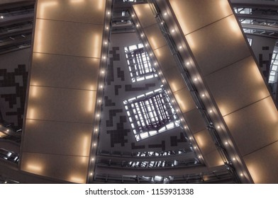 Kuala Lumpur / Malaysia - August 11, 2018: The interior of Nu Sentral shopping mall.