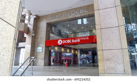 KUALA LUMPUR, MALAYSIA, AUGUST 13, 2017 : OCBC Tower entrance. OCBC bank, one of the largest global banking and financial service providers