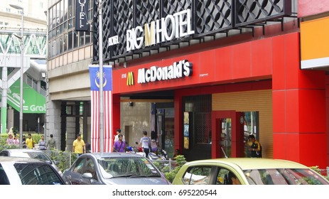 KUALA LUMPUR, MALAYSIA, AUGUST 13, 2017 : Mc Donald's restaurant in Jalan Tun Perak, Kuala Lumpur. Near Masjid Jamek LRT Station.