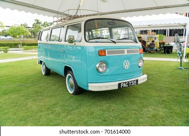 KUALA LUMPUR, MALAYSIA - AUGUST 13, 2017: Volkswagen Combi at the VW Car Festival. The famous German manufactured auto is popular among motor enthusiasts and collectors.