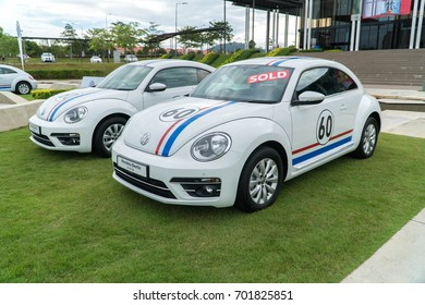 KUALA LUMPUR, MALAYSIA - AUGUST 13, 2017: Volkswagen Merdeka Beetle at the VW Car Festival. The famous German manufactured auto is popular among motor enthusiasts and collectors.