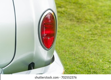 KUALA LUMPUR, MALAYSIA - AUGUST 13, 2017: Tail Light from Volkswagen Karmann Ghia at the VW Car Festival.